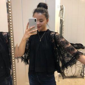 Zara lace sleeve top